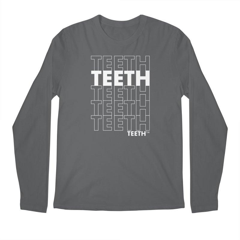 TEETH TEETH TEETH TEETH 9wht) Masc Longsleeve T-Shirt by VOID MERCH