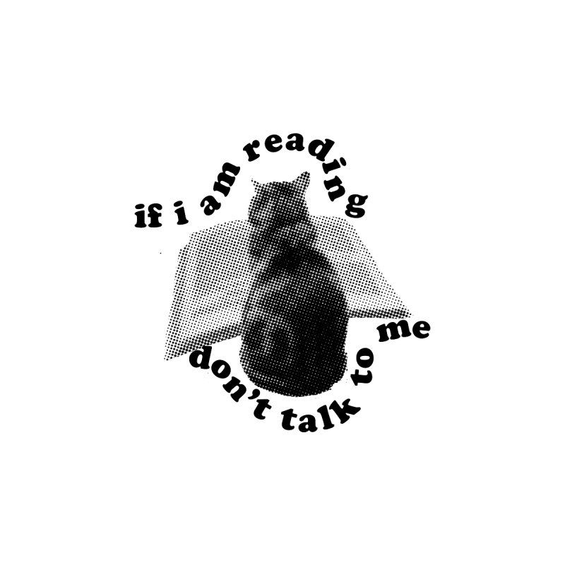 Don't Talk to Me Reading Cat, Wavy (Reading Glasses Podcast x Voidmerch) Home Stretched Canvas by VOID MERCH