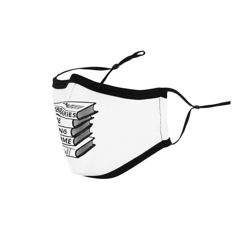 LIBRARIES ARE FUCKING AWESOME (Reading Glasses Podcast x Voidmerch) Accessories Face Mask by VOID MERCH