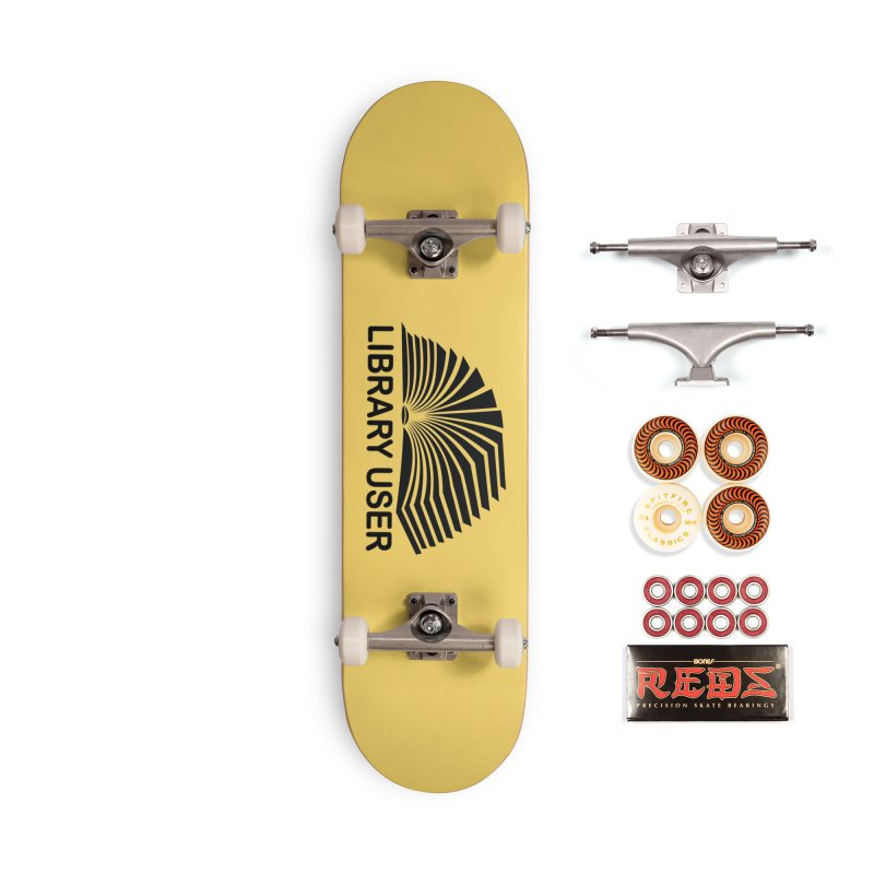 LIBRARY USER, blk (Reading Glasses Podcast x Voidmerch) Accessories Skateboard by VOID MERCH