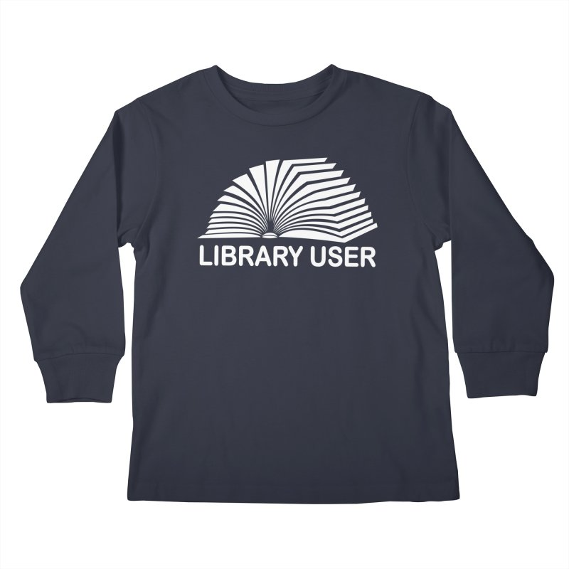 LIBRARY USER, wht (Reading Glasses Podcast x Voidmerch) Slugs Longsleeve T-Shirt by VOID MERCH