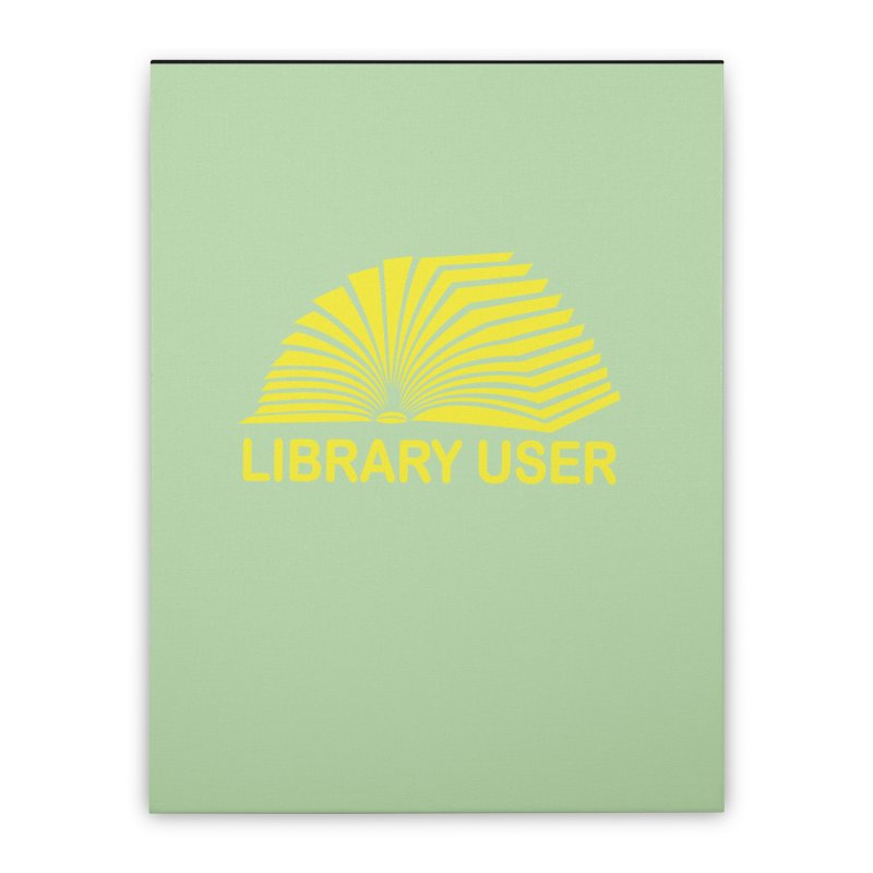 LIBRARY USER, ylw (Reading Glasses Podcast x Voidmerch) Home Stretched Canvas by VOID MERCH