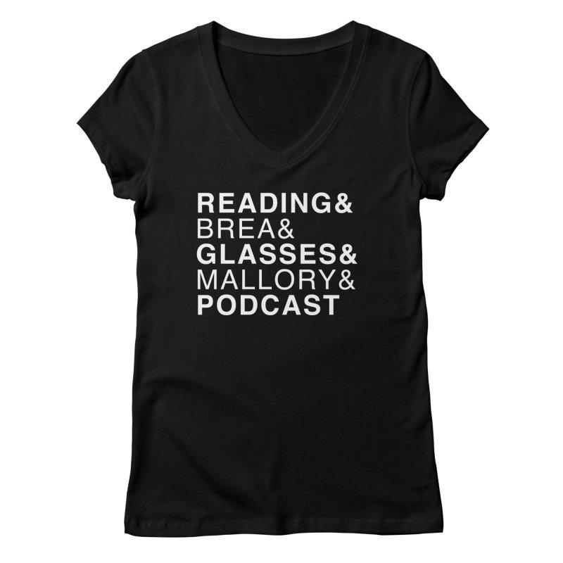 READING&GLASSES&PODCAST (Reading Glasses Podcast x Voidmerch) Femme V-Neck by VOID MERCH