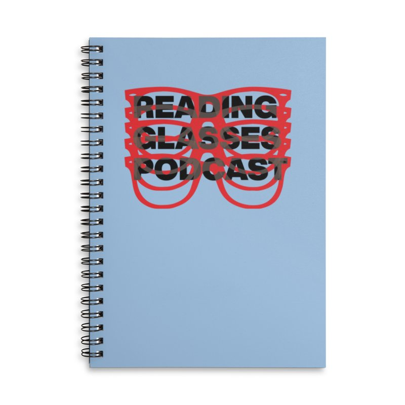 READING GLASSES PODCAST logo shirt 2 Accessories Notebook by VOID MERCH