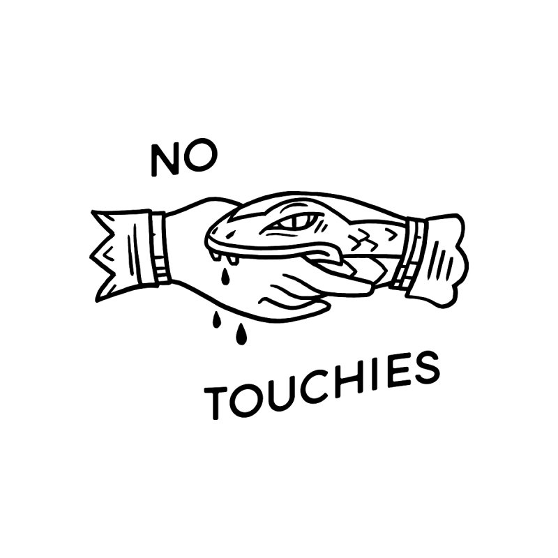 NO TOUCHIES MATERNITY EDITION Femme Scoop Neck by VOID MERCH