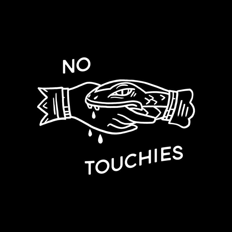 NO TOUCHIES MATERNITY EDITION, wht Femme V-Neck by VOID MERCH