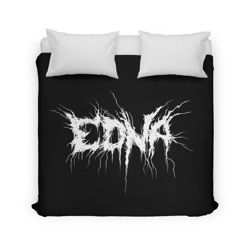 Edna White (Writers Are Metal AF Home Duvet by VOID MERCH