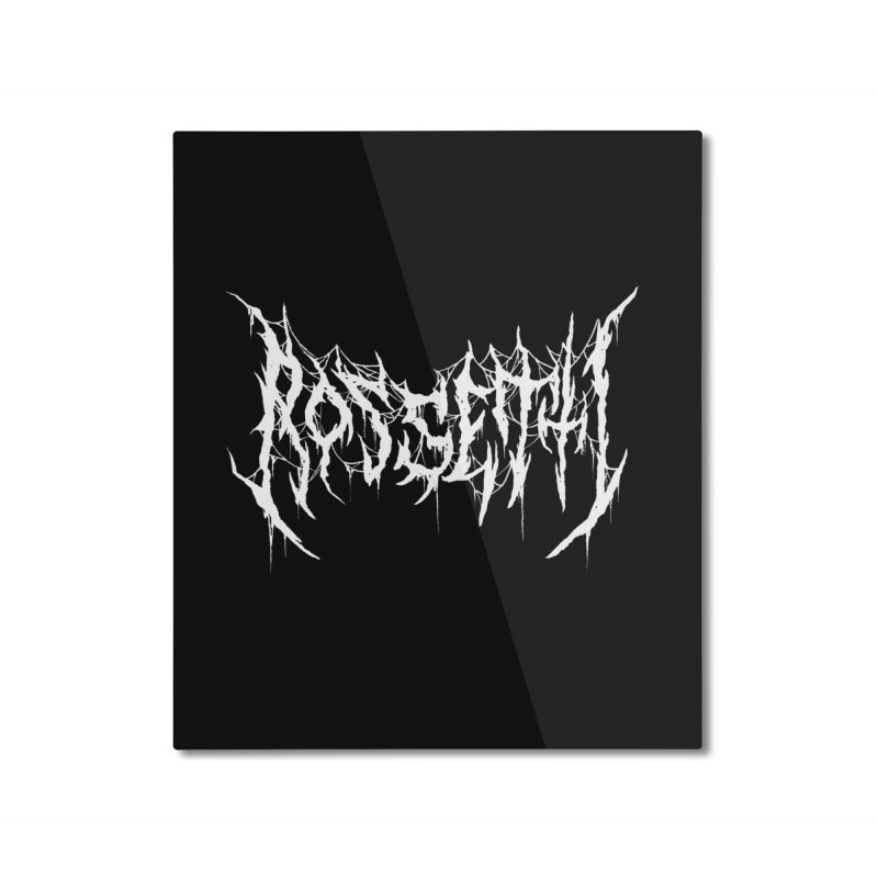 Rossetti (Writers Are Metal AF) Home Mounted Aluminum Print by VOID MERCH