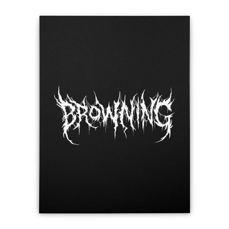 Elizabeth Barrett Browning (Writers Are Metal AF) Home Stretched Canvas by VOID MERCH