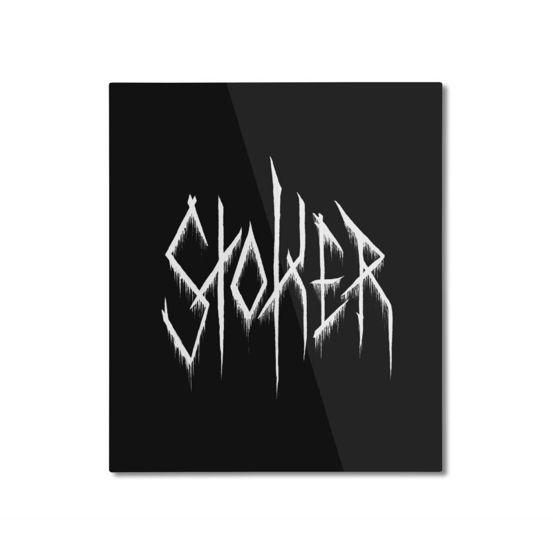 Bram Stoker (Writers Are Metal AF) Home Mounted Aluminum Print by VOID MERCH