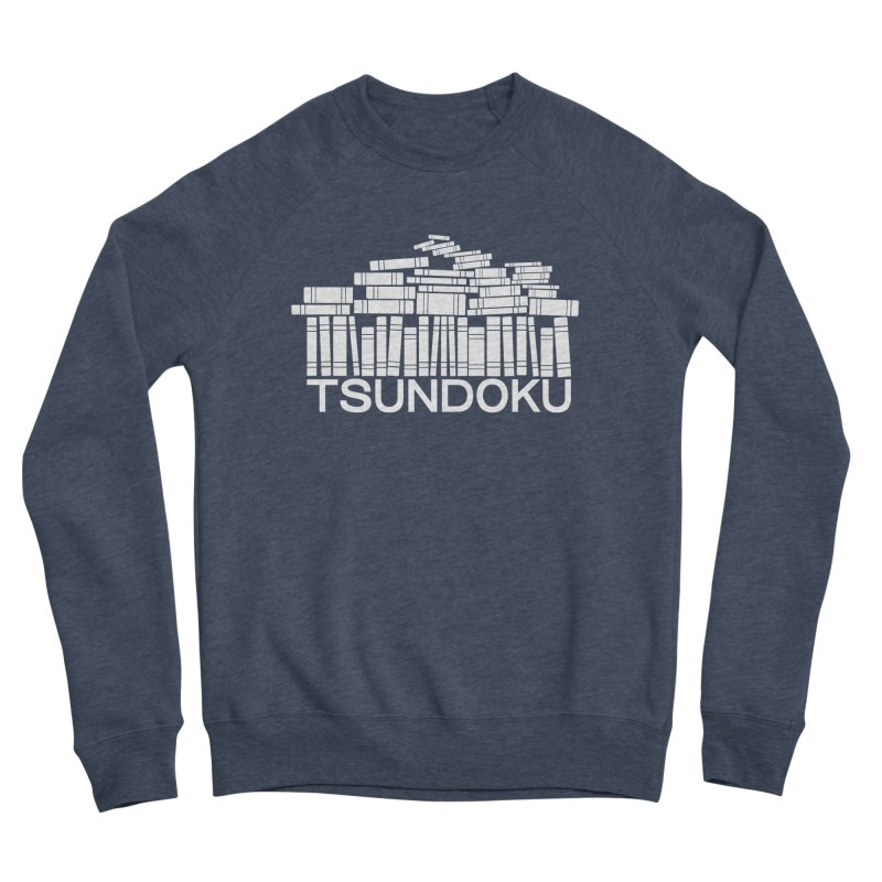 TSUNDOKU in Women's Sponge Fleece Sweatshirt Heather Indigo by VOID MERCH