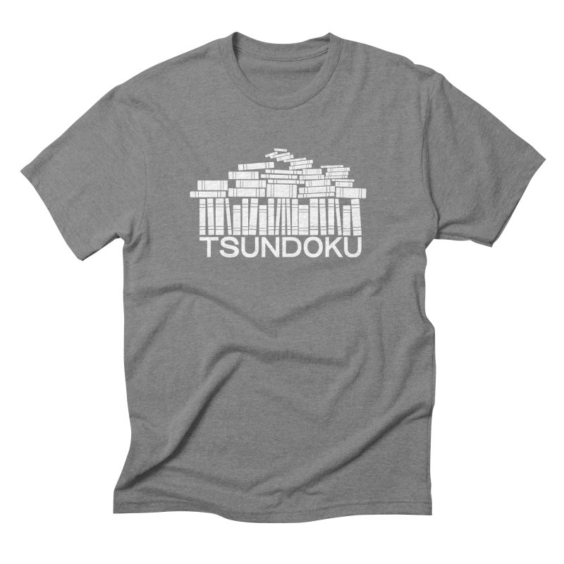 TSUNDOKU in Men's Triblend T-Shirt Grey Triblend by VOID MERCH