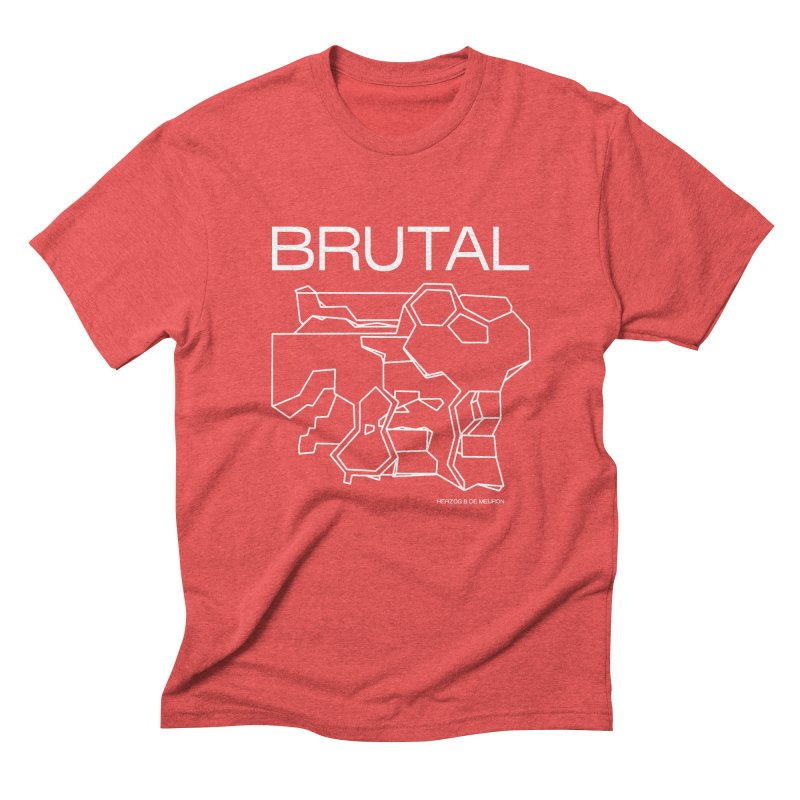BRUTALIST LOVE No. 1 (SANS SERIF) in Men's Triblend T-Shirt Chili Red by VOID MERCH