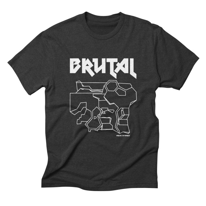 BRUTALIST LOVE No. 1 (METAL FONT) in Men's Triblend T-Shirt Heather Onyx by VOID MERCH