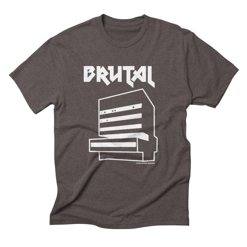 BRUTALIST LOVE No. 2 (METAL FONT) in Men's Triblend T-Shirt Tri-Coffee by VOID MERCH