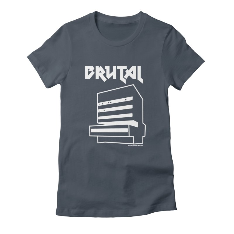 BRUTALIST LOVE No. 2 (METAL FONT) Femme T-Shirt by VOID MERCH
