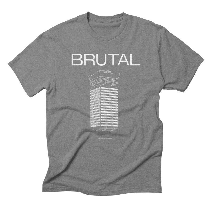 BRUTALIST LOVE No. 4 (SANS SERIF) in Men's Triblend T-Shirt Grey Triblend by VOID MERCH