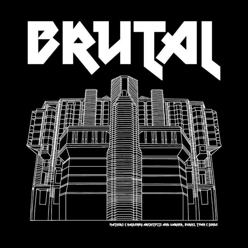 BRUTALIST LOVE No. 5 (METAL FONT) Men's T-Shirt by VOID MERCH