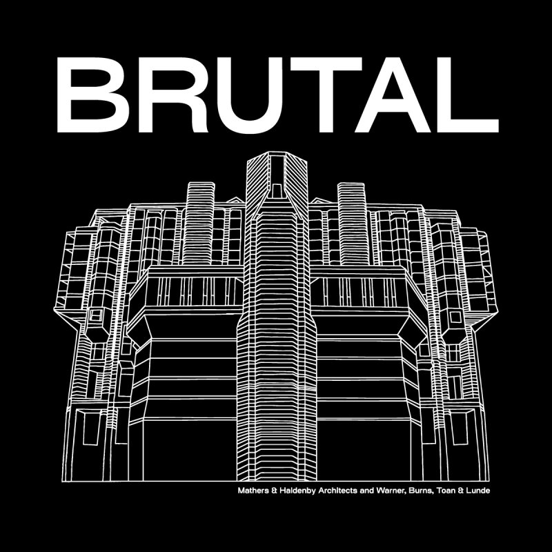 BRUTALIST LOVE No. 5 (SANS SERIF) Men's T-Shirt by VOID MERCH