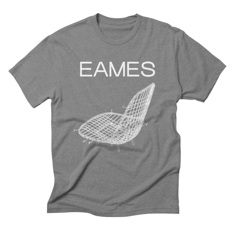 EAMES WIRE CHAIR in Men's Triblend T-Shirt Grey Triblend by VOID MERCH