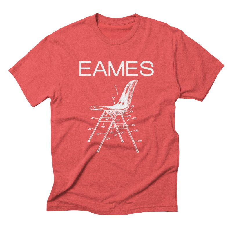 EAMES NESTING CHAIR in Men's Triblend T-Shirt Chili Red by VOID MERCH