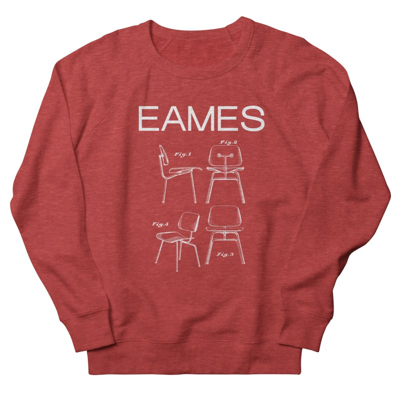 EAMES MOLDED PLYWOOD LOUNGE CHAIR in Women's French Terry Sweatshirt Heather Red by VOID MERCH