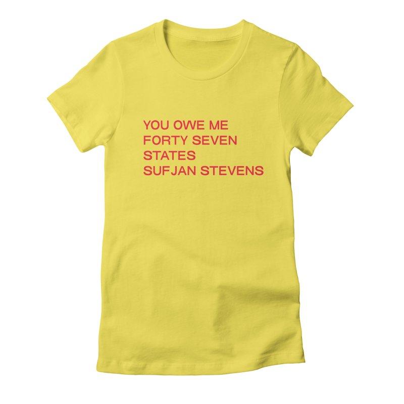 SUFJAN STEVENS 47 STATES LEFT (RED HERESY EDITION) Women's T-Shirt by VOID MERCH