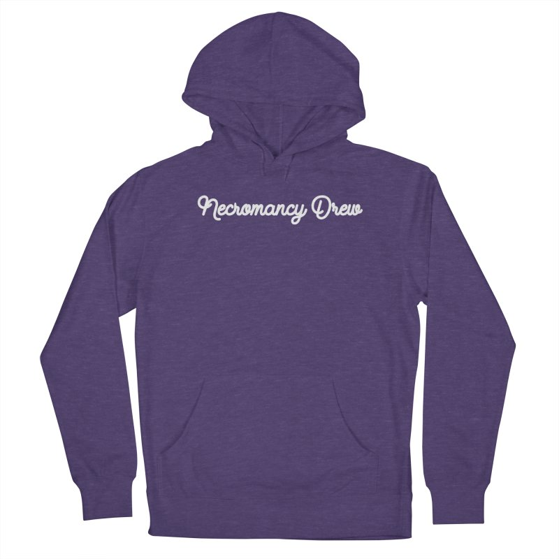 NECROMANCY DREW in Women's French Terry Pullover Hoody Heather Purple by VOID MERCH