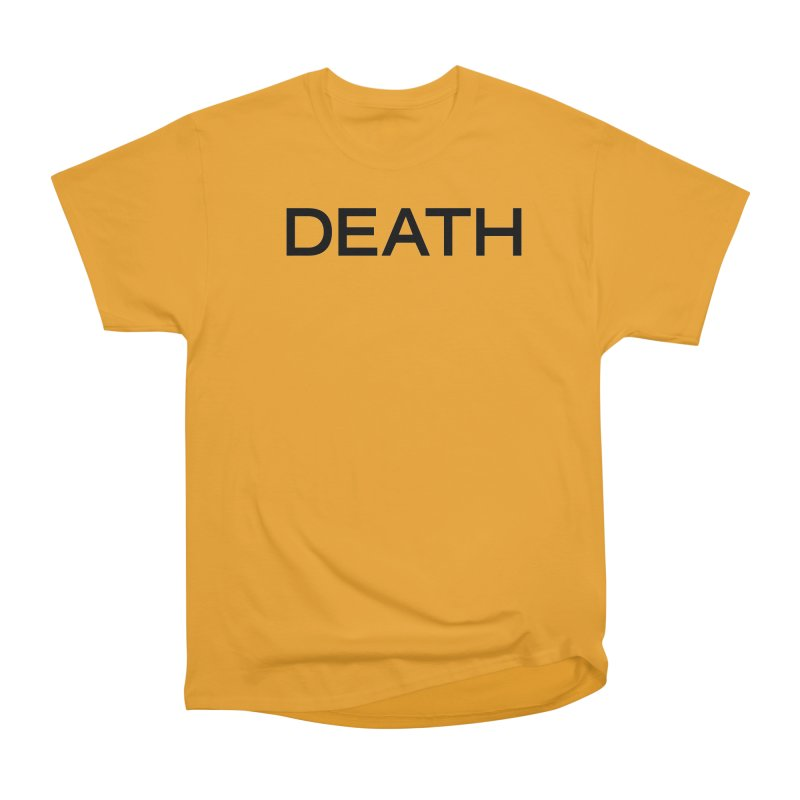 DEATH (BLK) in Men's Heavyweight T-Shirt Gold by VOID MERCH