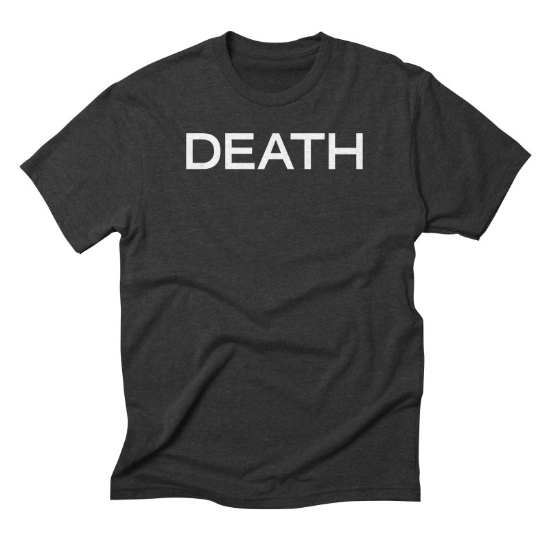 DEATH (WHT) in Men's Triblend T-Shirt Heather Onyx by VOID MERCH