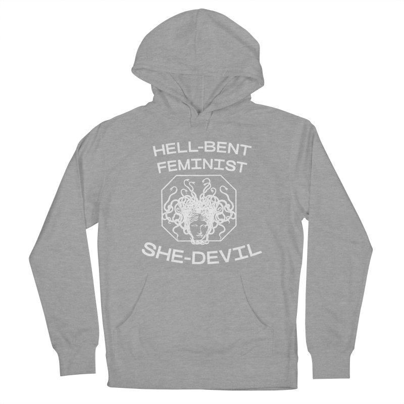HELL-BENT FEMINIST SHE-DEVIL SHIRT (BLK) Women's Pullover Hoody by VOID MERCH