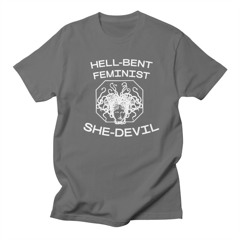 HELL-BENT FEMINIST SHE-DEVIL SHIRT (BLK) Men's T-Shirt by VOID MERCH