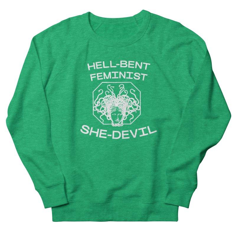 HELL-BENT FEMINIST SHE-DEVIL SHIRT (BLK) Women's Sweatshirt by VOID MERCH