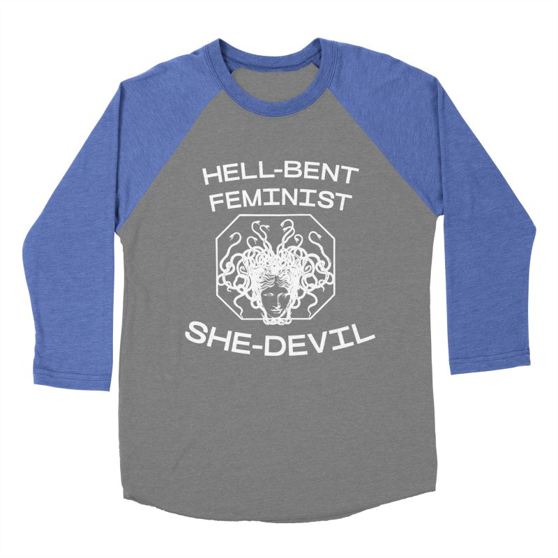 HELL-BENT FEMINIST SHE-DEVIL SHIRT (BLK) Women's Longsleeve T-Shirt by VOID MERCH