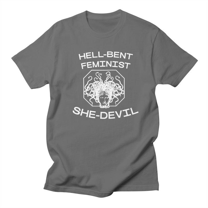 HELL-BENT FEMINIST SHE-DEVIL SHIRT (BLK) Men's T-Shirt by VOID MERCH