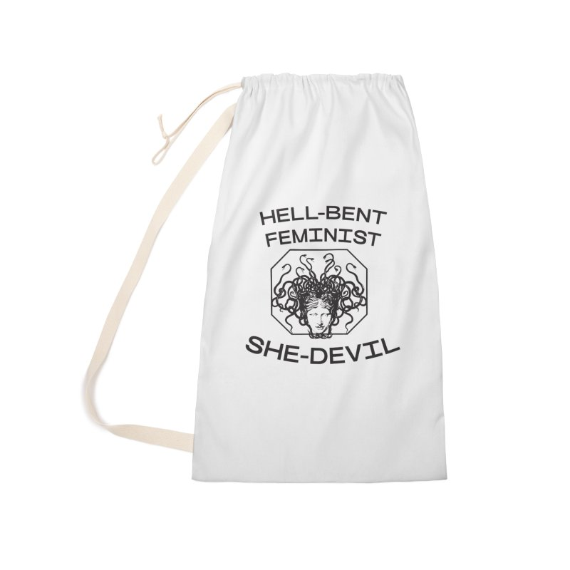 HELL-BENT FEMINIST SHE-DEVIL SHIRT (BLK) Accessories Bag by VOID MERCH