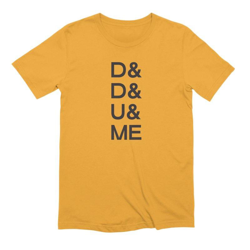D&D&U&ME (BLK) in Men's Extra Soft T-Shirt Gold by VOID MERCH