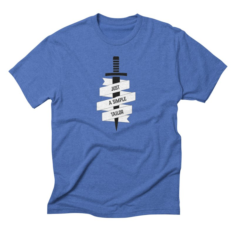 JUST A SIMPLE TAILOR (BLK) in Men's Triblend T-Shirt Blue Triblend by VOID MERCH