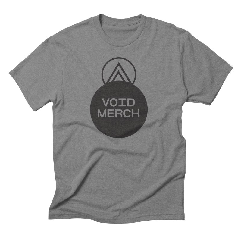 VOID MERCH LOGO 1  (blk) in Men's Triblend T-Shirt Grey Triblend by THE ABYSS' CURIO SHOP