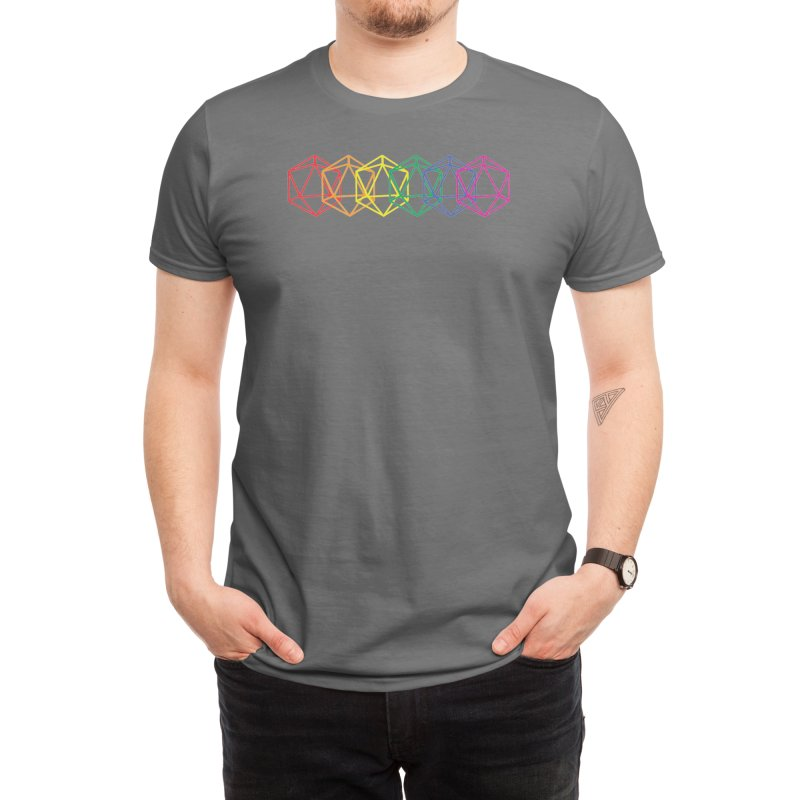 DICE PRIDE (RNBW) Men's T-Shirt by VOID MERCH