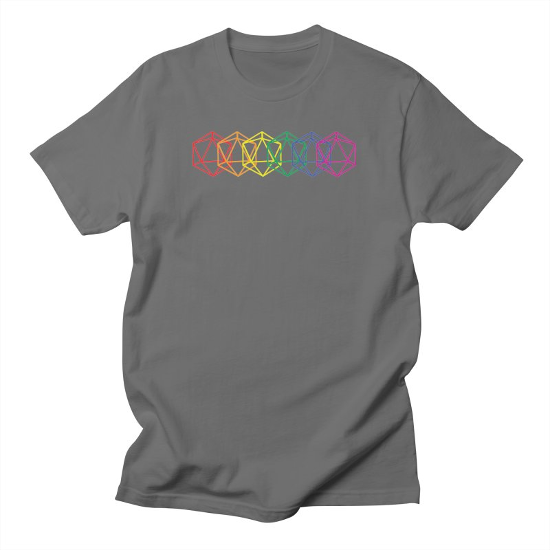 DICE PRIDE (RNBW) Masc T-Shirt by VOID MERCH