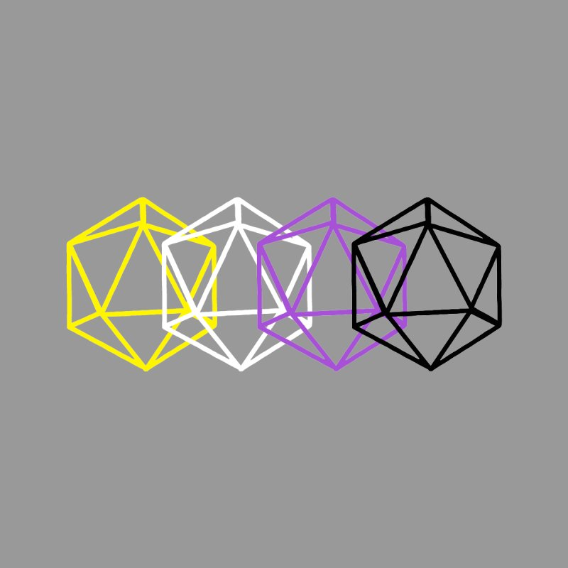 Non Binary Pride Dice (RNBW) Women's T-Shirt by VOID MERCH