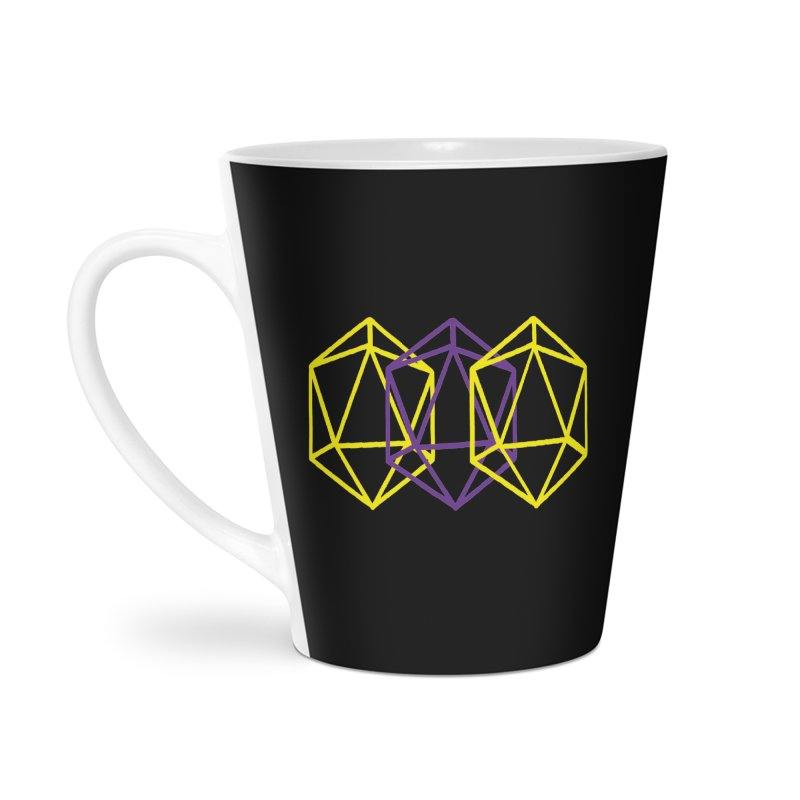 Intersex Pride Dice Rainbow Accessories Latte Mug by VOID MERCH