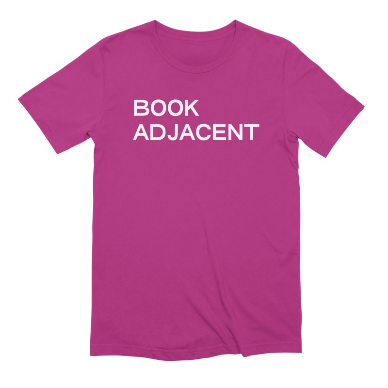 BOOK ADJACENT (SANS WHT) in Men's Extra Soft T-Shirt Berry by VOID MERCH