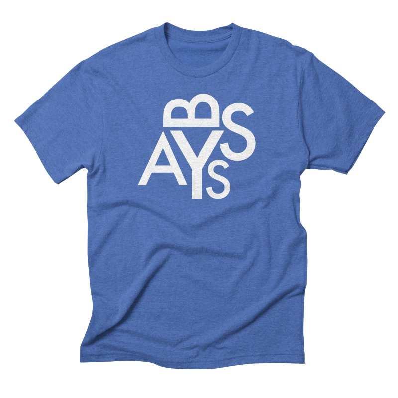 ABYSS FUTURA (wht) in Men's Triblend T-Shirt Blue Triblend by VOID MERCH