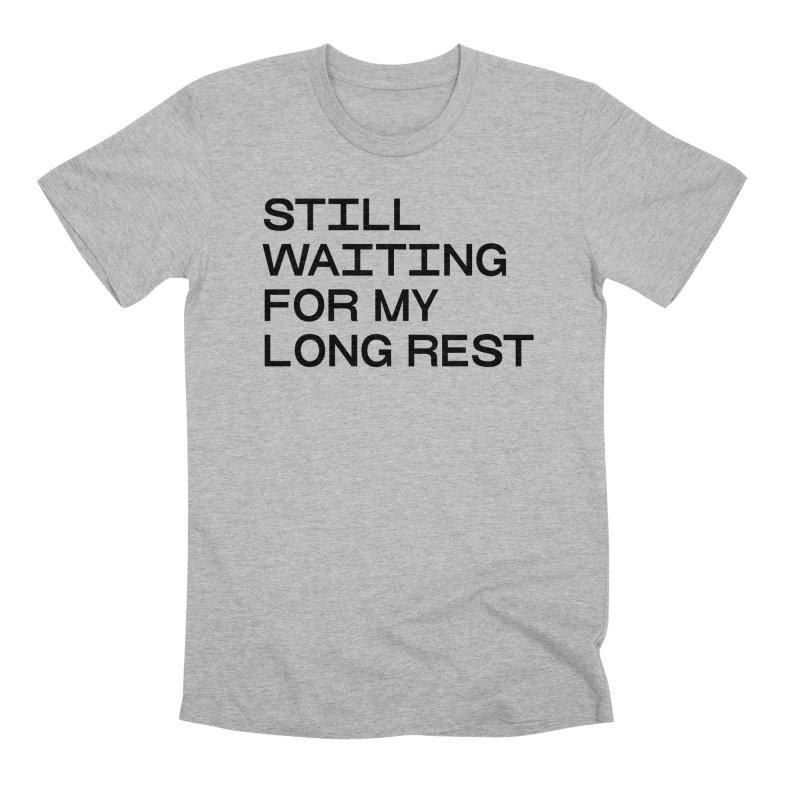 WHATSA LONG REST? (blk) in Men's Premium T-Shirt Heather Grey by VOID MERCH
