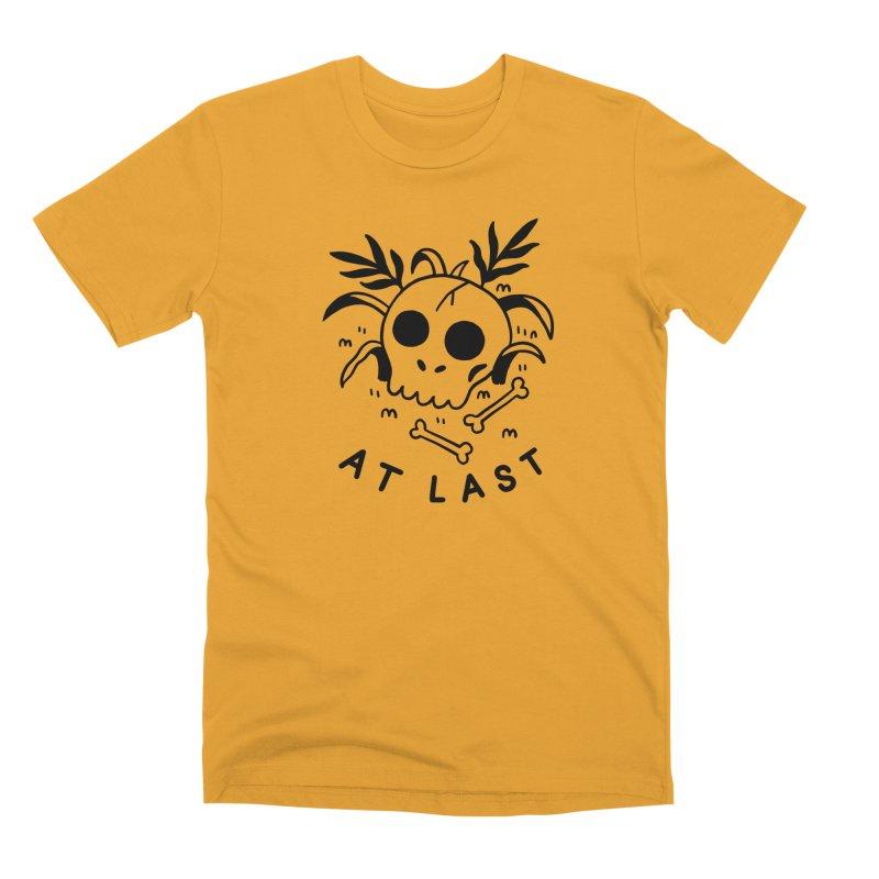 AT LAST SKULL (blk) in Men's Premium T-Shirt Gold by VOID MERCH