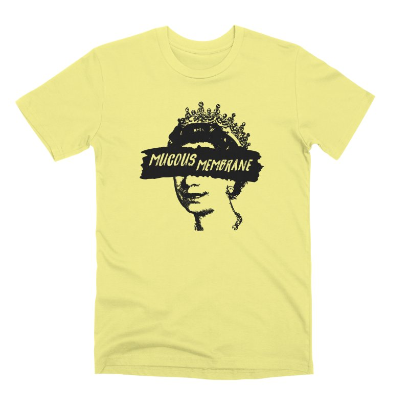 MUCOUS MEMBRANE (blk) in Men's Premium T-Shirt Canary by VOID MERCH