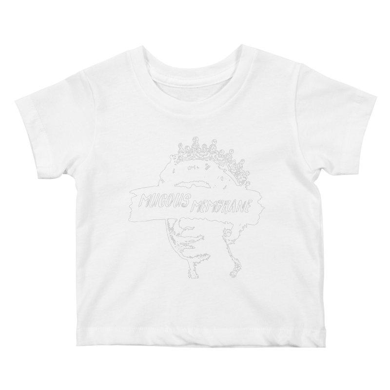 MUCOUS MEMBRANE (wht) Kids Baby T-Shirt by VOID MERCH