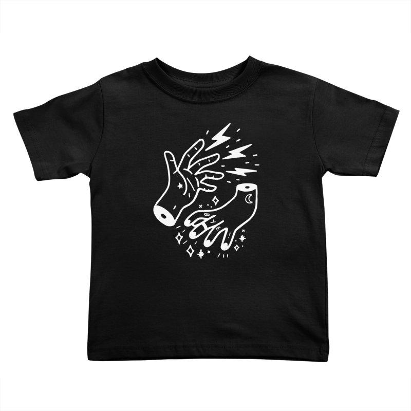 Cursed! (wht) Kids Toddler T-Shirt by VOID MERCH